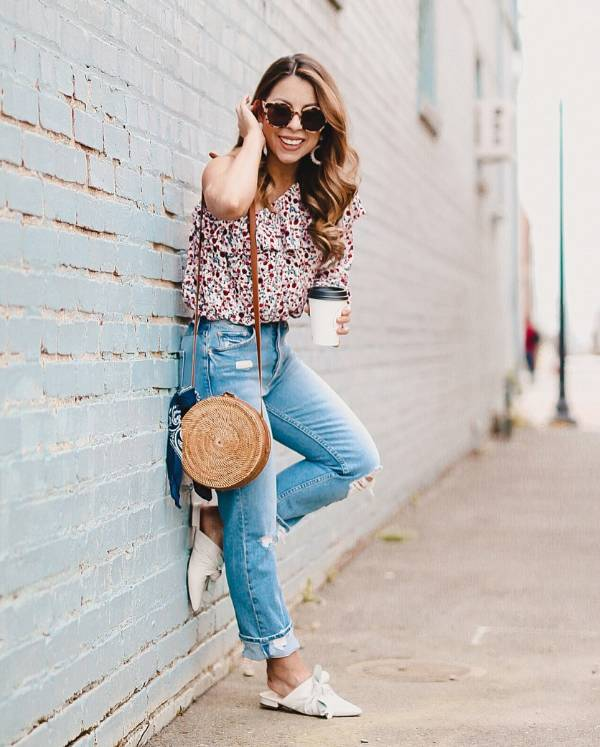 One-shoulder ruffle top with jeans  - 13 casually stunning outfits for the next date night out - TodayWeDate.com