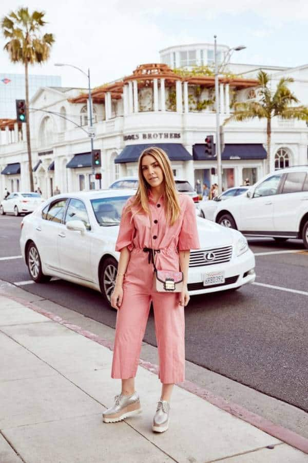 A sleek pink jumpsuit  - 13 casually stunning outfits for the next date night out - TodayWeDate.com