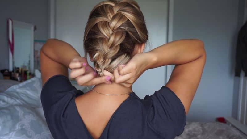 Easy French-Braided Updo Tutorial - easy hairdo for shoulder-length/ medium length hair - the French-braided updo. Perfect hair for a date night out