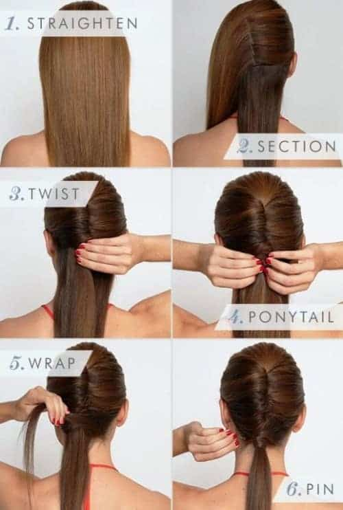 french twist ponytail effortless long hairstyle for date ngiht