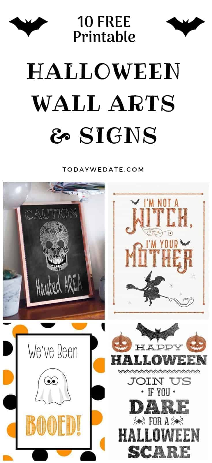 image relating to Halloween Signs Printable identify 64 Totally free Halloween Printables That Are Merely Incredible - Presently