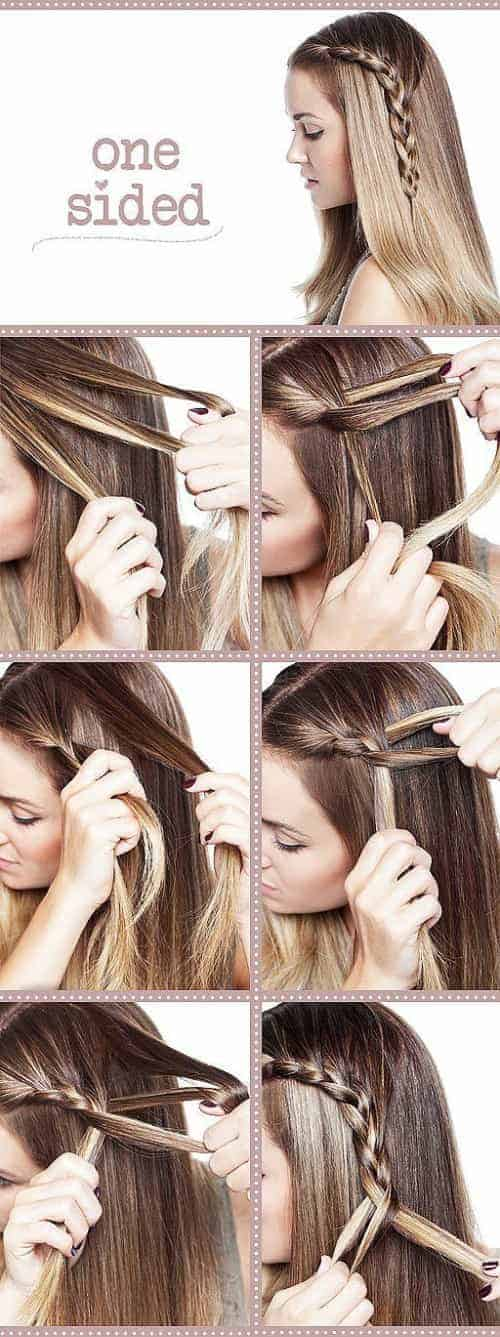 one side braide 30 effortless long hairstyle for date ngiht