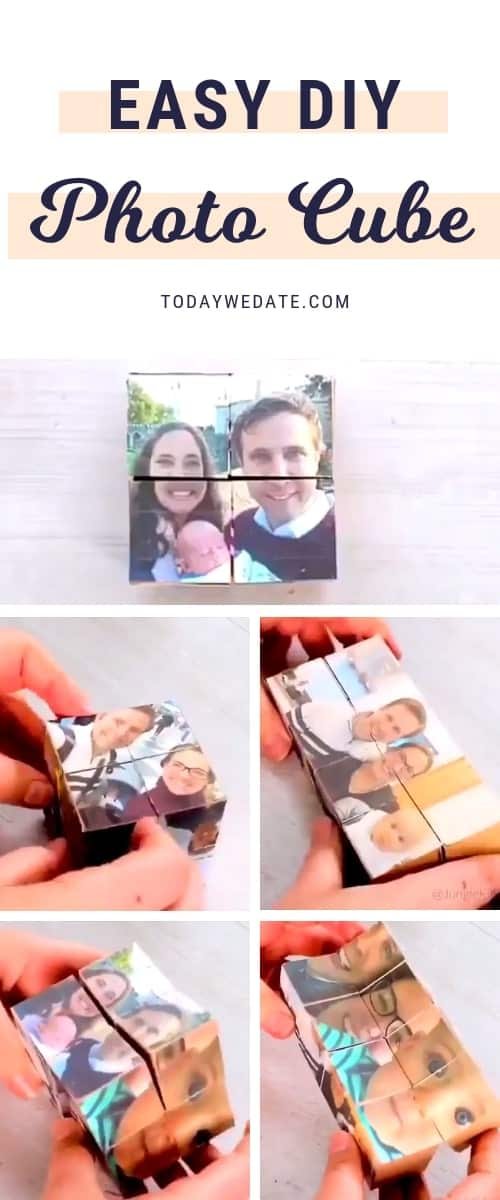 DIY photo cube, a different memory every time you flip - 18 Sweet DIY gift ideas for him - TodayWeDate.com