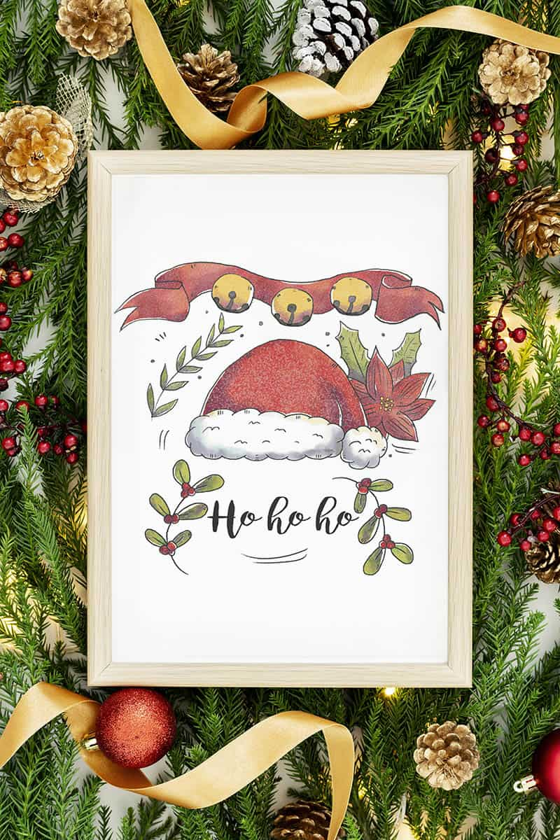 Free Christmas printable wall art todaywedate.com2