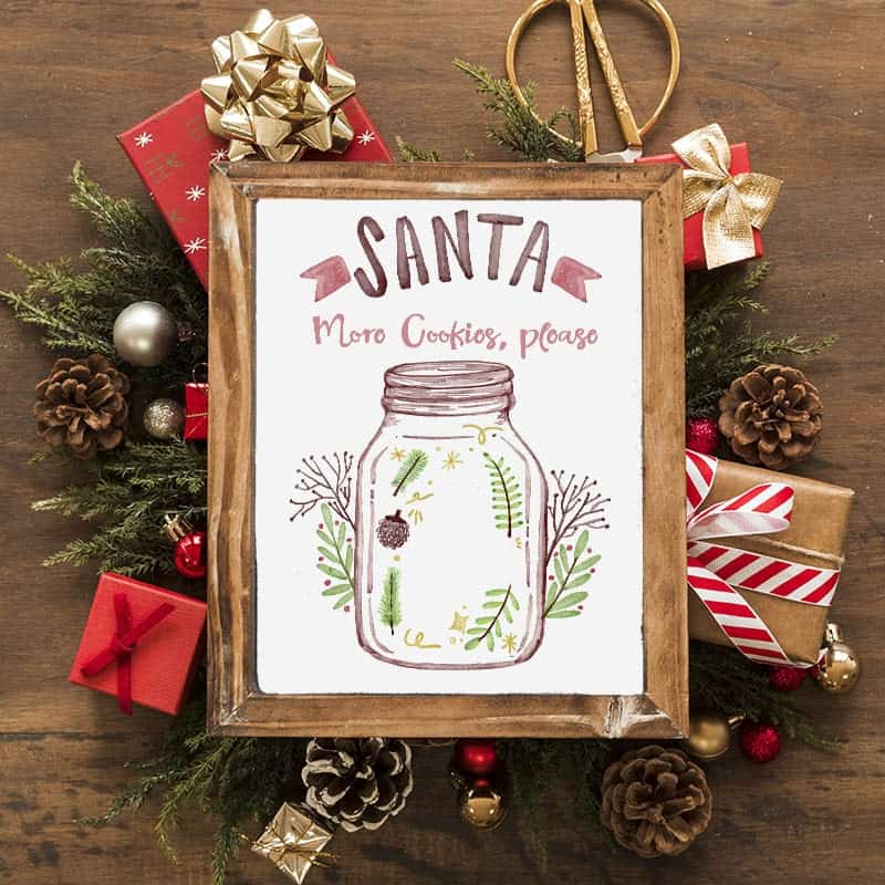 Free Christmas printable wall art todaywedate.com5
