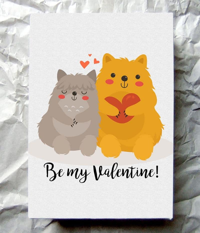 cute animal printable valentines day cards Todaywedate.com23