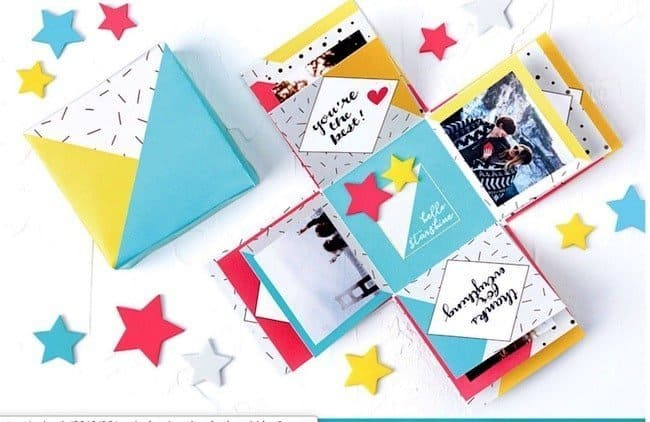 Easy paper craft gift - explosion box - todaywedate.com