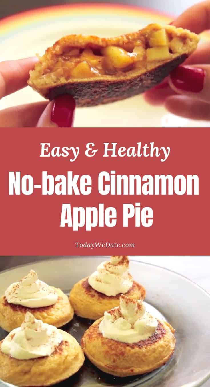 easy healthy no bake cinnamon apple pie todaywedate.com