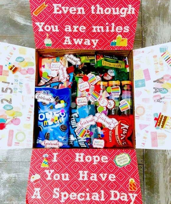 heartwarming birthday care package ideas - todaywedate.com