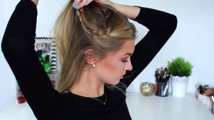 A-Half-up-half-down-top-knot-bun​-easy-summer-hairstyles-TodayWeDate.com-5