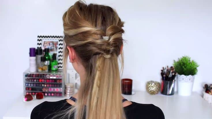 An-Elegant-no-braid-half-up-half-down-hairstyle​-4