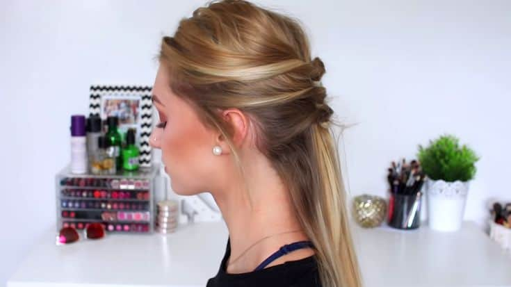 An-Elegant-no-braid-half-up-half-down-hairstyle​-6