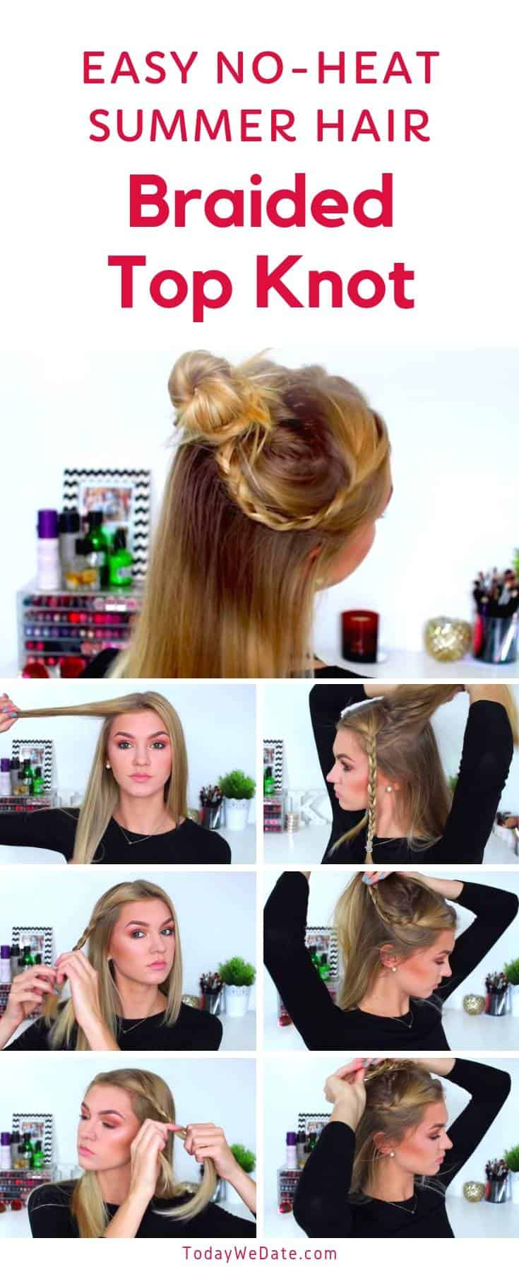 No-heat-easy-summer-hairstyles-todaywedate.com-4