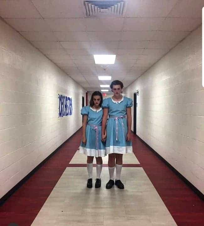 Ghost twins from The Shining - best couple costume 2019 - TodayWeDate.com