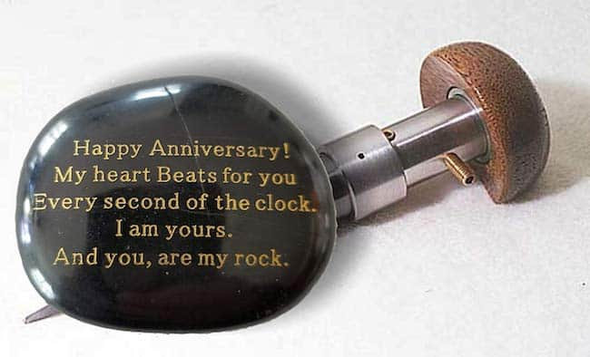 An engraved love letter for the rock of your life - Sentimental anniversary gift for him
